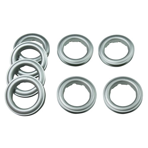 "Home Sewing Depot Fast-Set Metal, 12 Grommet, 1 9/16"", 8 Grommets Total, FROST SILVER"