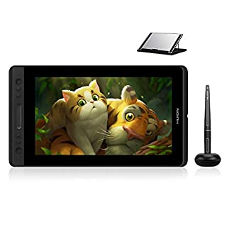 Huion KAMVAS Pro 13 GT-133 Drawing Monitor Pen Display 13.3 Inches Tilt Function Battery-Free Stylus 8192 Pen Pressure (GT-133 with Stand)