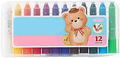 Refaxi 眩しいカラーロッド水溶性回転ブラシクレヨン油絵スティック子供の絵画スティック学生文具(12色24 * 11.5 * 2.3 CM)