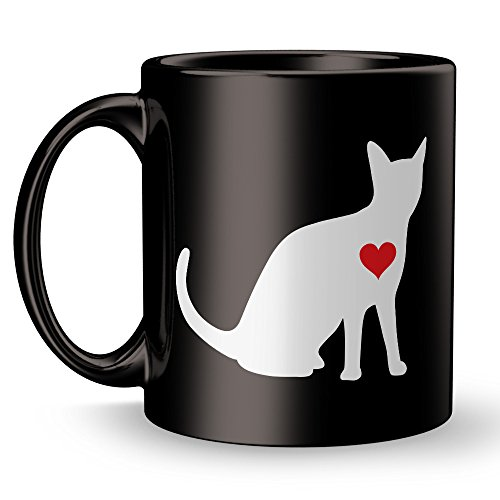 Cat Lover Mug - Red Understanding Coffee Hug Best Funny and Inspirational Decoration Gifts for Doggie Owners - 11 oz ounce Ceramic Tea Cup - Ultimate Feline Pot Best Joke Fun Sarcasm Travel