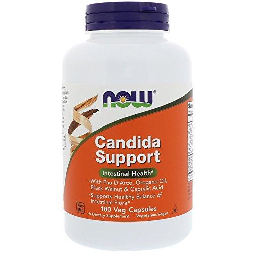 NOW Supplements, Candida Support with Pau D Arco, Oregano Oil, Black Walnut Caprylic Acid, 180 Veg Capsules
