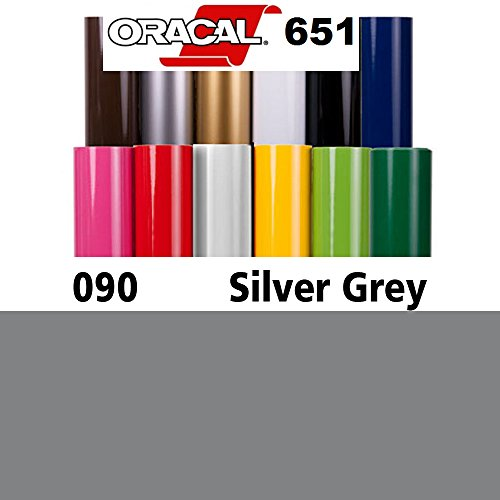 24'' x 50Y ORACAL 651 Sign Vinyl Self-Adhesive - Silver Grey (Metallic) by ORACAL