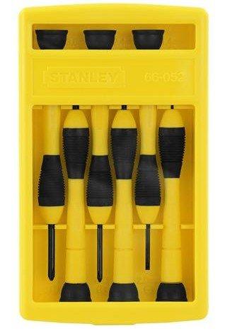 Stanley Tools 66052 6-Piece Precision Screwdriver Set, Black