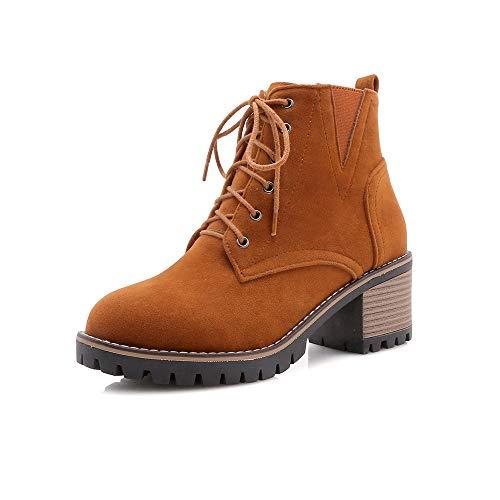 Con Boots Tacco Alti Basso E Brown Da Women's Stivaletti Donna Largo qwHnRRX4x