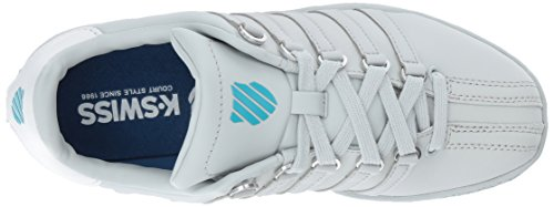 K-swiss Mujeres Classic Vn Sneaker Glacier Grey / Blue Atoll / White