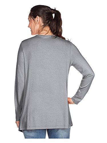 sheego BASIC Cardigan tallas grandes Mujer gris claro
