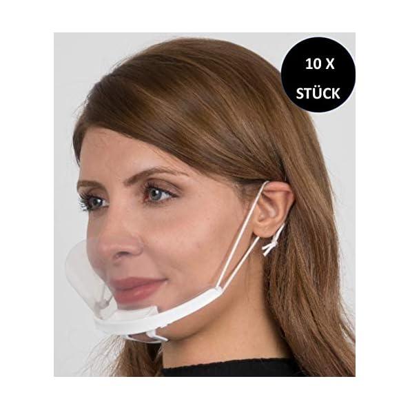 Mayda-Visier-Mundschutz-Gesichtsschutz-Face-Shield-10-Stck-Plastik-Gesichtsschild-fr-Restaurant-Hotel-Kellner-Chefkoch-Schnheitssalons-Durchsichtige-Gesichtsvisier-10X-Halter-20X-Visiere