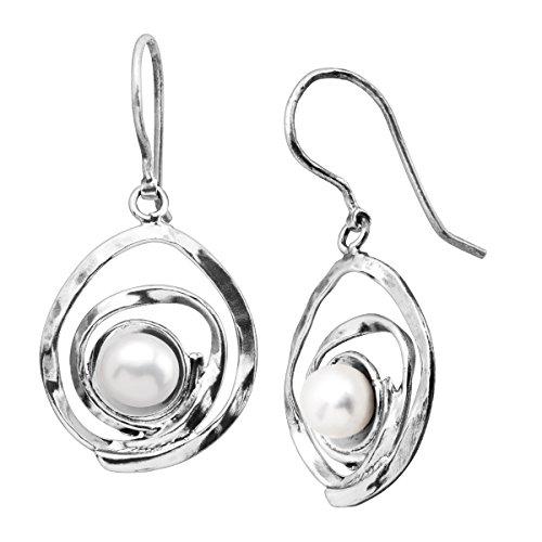 Silpada Clean Sweep 7 mm Freshwater Cultured Pearl Drop Earrings in Sterling Silver