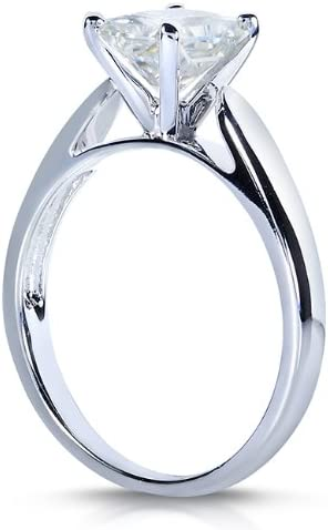 Kobelli Radiant-cut Moissanite Solitaire Engagement Ring 1 1/5 CTW 14k White Gold