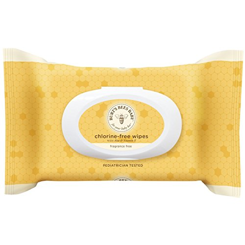 Burt's Bees Baby Chlorine-Free Wipes, 72 Count (Pack of 6) (Packaging May Vary)
