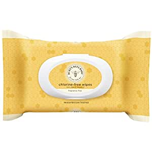 Burt's Bees Baby Chlorine-Free Wipes, 72 Count (Pack of 6)