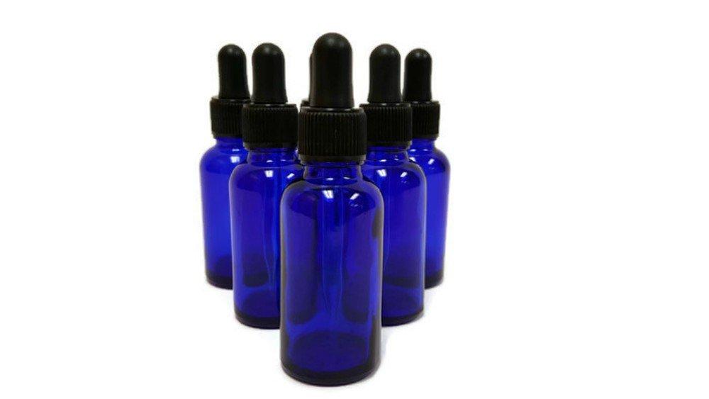 Botellas de vidrio azul cobalto con cuentagotas de vidrio - 6 unidades de 30 ml: Amazon.es: Amazon.es