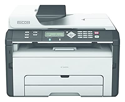 Ricoh Aficio SP 204SN Monochrome Multifunction Laser Printer with Color Photo Scanner and Copier (Windows Only)