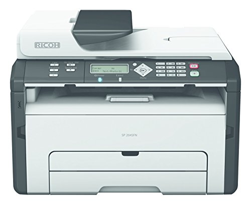 Ricoh Aficio SP 204SN Monochrome Multifunction Laser Printer with Color (Ricoh Scan To Email)