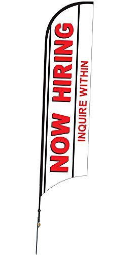 Now Hiring - Inquire Within 10' Feather Flag