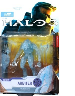 Halo 3: Series 4 (Equipment Edition) - Arbiter (Active Camo) six inch Collectable Action Figure - Halo Plasma Sword