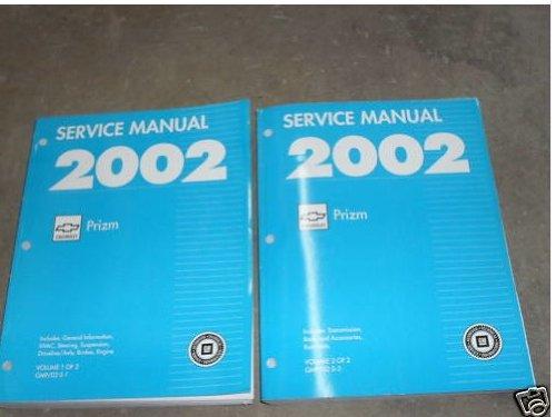 2002 Chevrolet Chevy Geo Prizm Service Shop Manual Set (2 volume set)