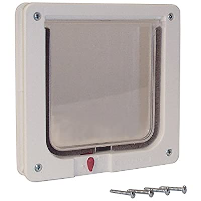 """Ideal Pet Products. Cat Flap Door with 4 Way Lock, 6.25"""" x 6.25"""" Flap Size"""
