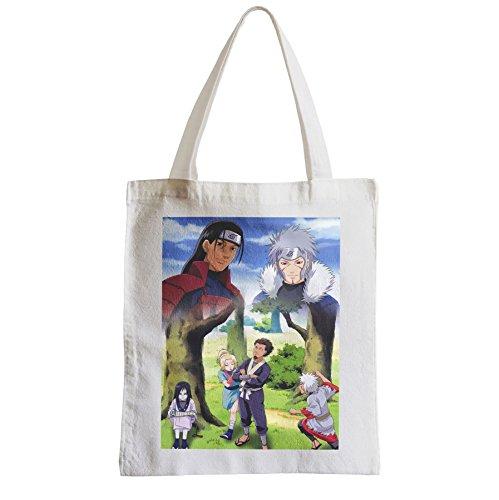 Grand Sac Shopping Plage Etudiant enfant naruto manga harashima senju tobirama sarutobi hokage 3 ninja legendaires oroshimaru tsunade jiraya