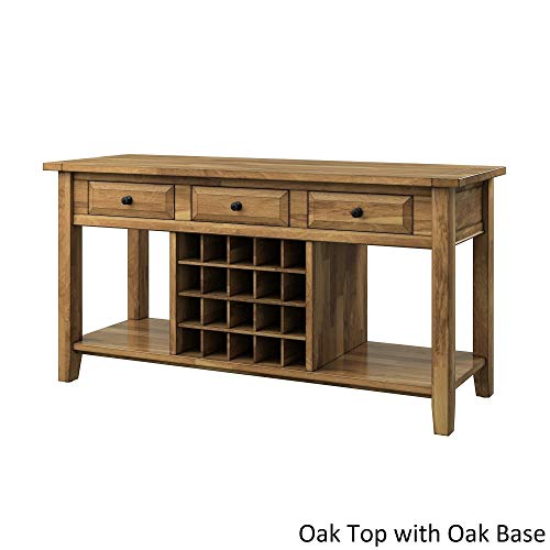 Cheap iNSPIRE Q Eleanor Two-Tone Wood Wine Rack Buffet Server by Classic Oak Oak Finish