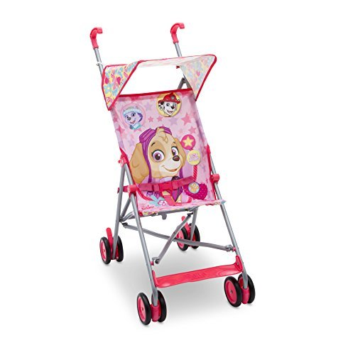 Nickelodeon PAW Patrol Umbrella Stroller - Skye & Everest, Pink by Delta Children