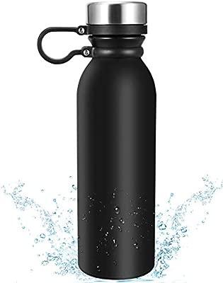 Botella Termica Eccomum 600ML Botella de Agua de Acero Inoxidable 304 Doble Pared Aislada al Vacío, Ligera, Resistencia al Rayado, Fácil de Limpiar, ...