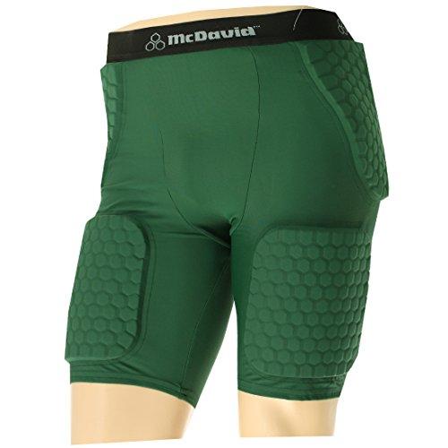 McDavid Mens Thudd Football Compression Shorts 757T Dark Gre