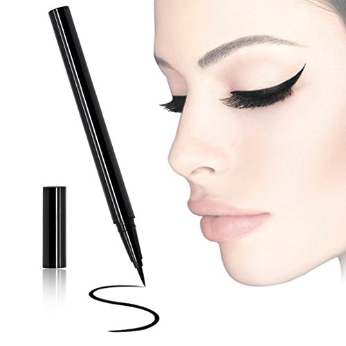 Black Waterproof Eyeliner Pencil Slim Liquid Long-lasting Perfect Eye Liner Pen Cat Eyes Waterline Brush Head