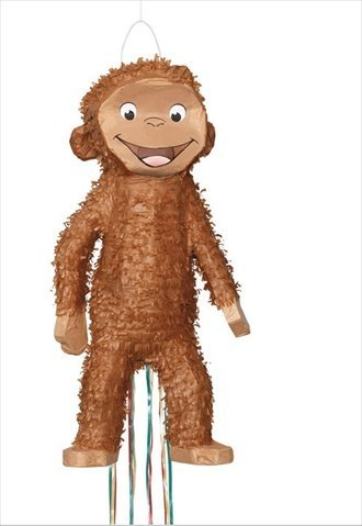 Unique Industries 15880 Curious George 3D Pull Pinata - 4 Packs