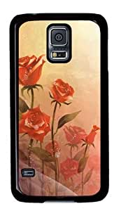 Cute Painting Samsung Galaxy S5 Case and Cover -Roses Painting Custom PC Hard Case Cover for Samsung S5/Samsung Galaxy S5