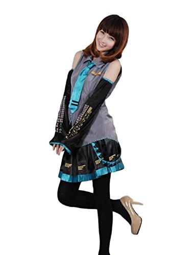 GK-O Vocaloid Hatsune Miku Cosplay Costume Set (Asian Size M) - Miku Hatsune Cosplay Costume