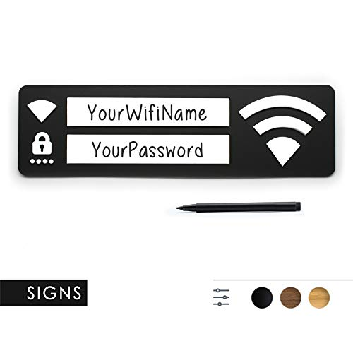 3DP Signs - WiFi Password Cartel Guest Login - Design Placa ...