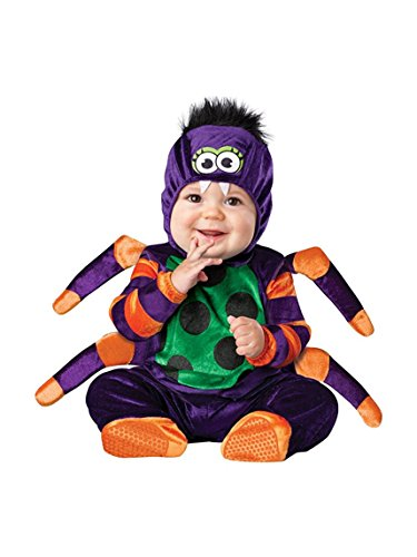 Spider Costume Toddler Boy (InCharacter Costumes Baby's Itsy Bitsy Spider Costume, Purple/Green/Orange/Black, Large)