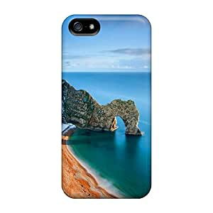 Premium HGX30204LJGV Cases With Scratch-resistant/ Beautiful Sea Rocks Cases Covers For Iphone 5/5s