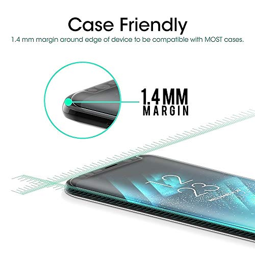 Galaxy S9 Screen Protector [2-Pack], ChefzBest [CASE-Friendly] Tempered Glass Screen Protector Compatible with Samsung Galaxy S9 - Black
