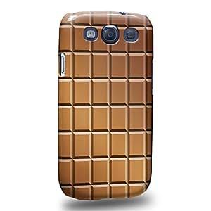 Case88 Premium Designs Art Chocolate Series Chocolate Bricks Bar Pattern Carcasa/Funda dura para el Samsung Galaxy S3