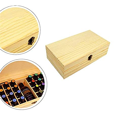 Amazon.com : | Storage Boxes & Bins | Holes Essential Oils Wooden Box 5ml /10ml /15ml Bottles SPA Yoga Club Aromatherapy Storage Case Organizer Container ...
