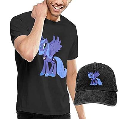 LightCa Princess Luna My Little Pony T Shirts + Cowboy Hat for Man
