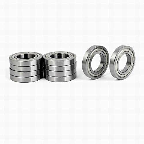 55 Mm Thickness Overall (Ugtell ZZ16006 55mmx30mmx9mm Sealed Deep Groove Ball Bearing 10pcs)