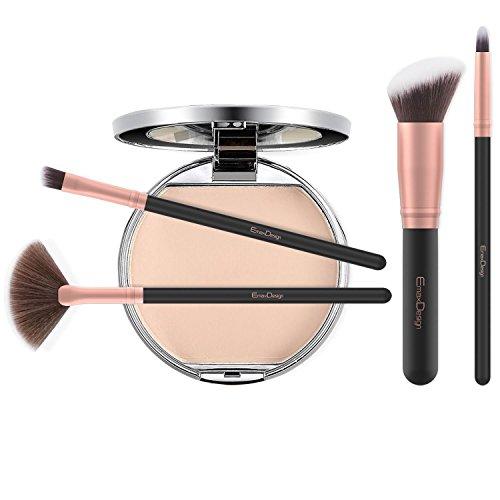 EmaxDesign Makeup Brushes 17 Pieces Premium Synthetic Foundation Brush Powder Blending Blush Concealer Eye Face Liquid Powder Cream Cosmetics Brushes Kit (Rose Gold) by EmaxDesign (Image #2)