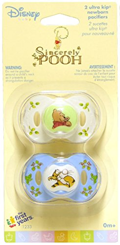 Pacifier Disney Infant (Disney Baby Sincerely Pooh Ultra Kip Newborn Pacifiers, 0+ Months)