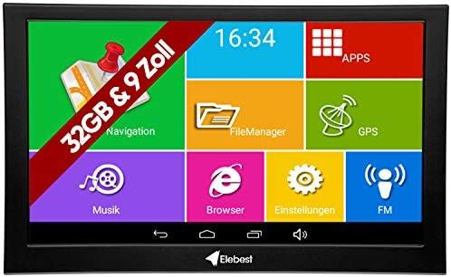 Elebest Pro A900 Navigationsgerät 22 8cm 9 Zoll Display Android 6 0 Wifi Radarwarner Tablet Pc Wohnmobil Lkw Pkw 32gb Speicher Bluetooth Kostenlose Lebenslange Updates Navigation