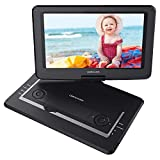 DBPOWER 17.5' Portable DVD Player with 14' Large Swivel Screen, Rechargeable Battery, Supports SD Card and USB, with 1.8M Car Charger and 1.8M Power Adaptor (Black)