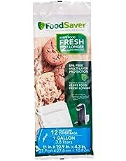 FoodSaver -Gallon Vacuum Zipper Bags, 12 Count, Multi
