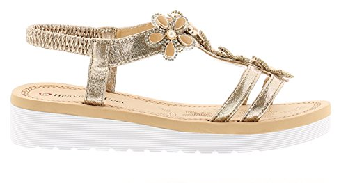 Heavenly 3 Celine Tailles Uk Or Sandales Feet 7 Compensées Femmes 8vxqw8r6