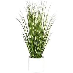 "Hibuy Artificial Plant Dandelion Grass 13"" PVC with Ceramic Pot for Home Decor"
