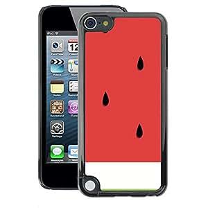 A-type Arte & diseño plástico duro Fundas Cover Cubre Hard Case Cover para Apple iPod Touch 5 (Watermelon Cut Healthy Fruit Art)
