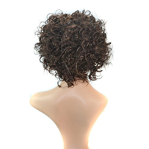 FORUU Wigs, 2019 Valentine's Day Surprise Best Gift For Girlfriend Lover Wife Party Under 5 Free delivery Density Natural Hairline Women Sprial Spring Curls Kinky Synthetic Lace Wig ()