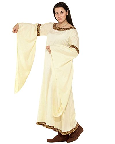 Medieval Renaissance Pirate Viking LARP Womens Costume Brangwine Celtic Dress (Larp Costume Female)