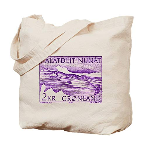 CafePress 1975 Greenland Narwhal Whale Postage Stamp Tote Ba Natural Canvas Tote Bag, Cloth Shopping Bag